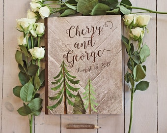 Rustic Wedding Guest Book, Trees Guest Book, Country Wedding Guestbook, Mountain Wedding Guest Book, Woodsy Guest Book, Photo Guestbook