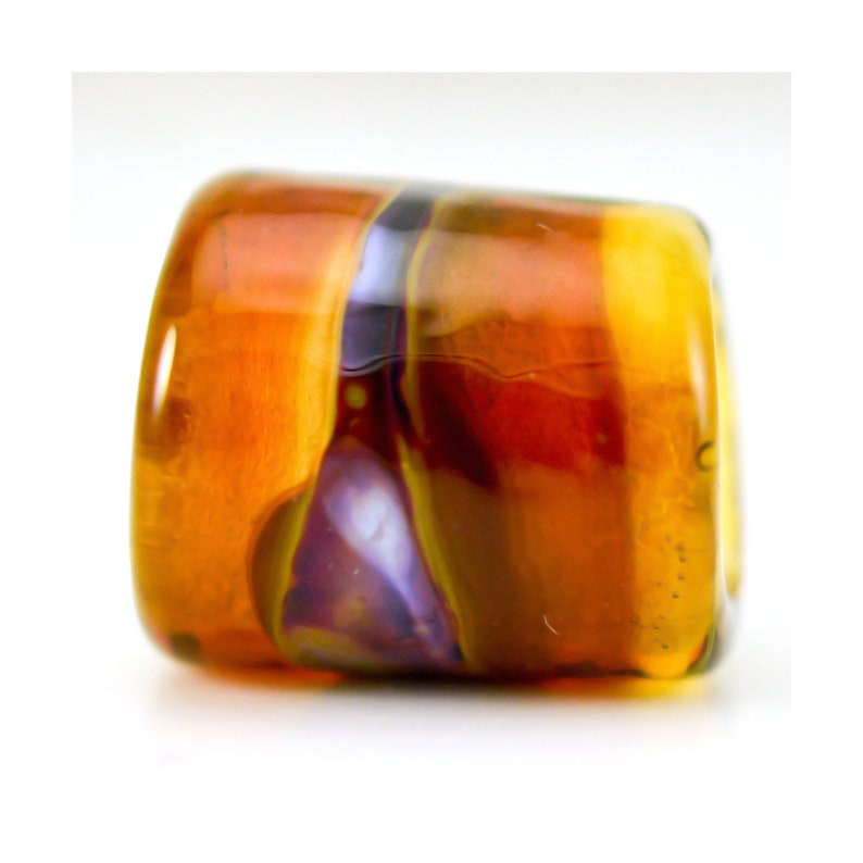 Handmade Glass Lampwork Bead Lava Glow Large Hole