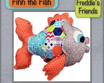 """Finn the Fish Pattern by Freddie""""s and Friends Finished Size will be 15""""x 6""""x 11"""""""
