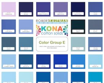 Robert Kaufman Kona Solid Color 100% Cotton Fabric - Color Group E