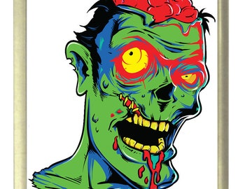 Zombie Horror Fridge Magnet 7cm by 4.5cm