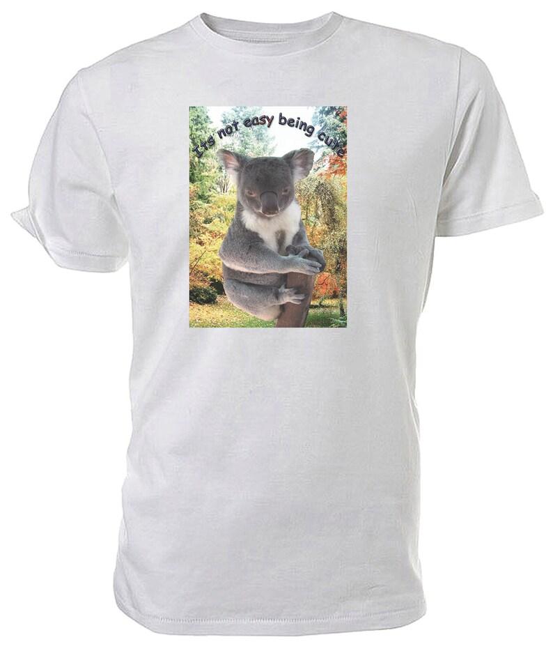Cute Koala T shirt. classic round neck short sleeved ...