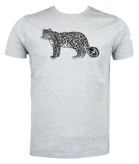 d090a91fa833 Snow Leopard T shirt choice of sizes and colours Black and | Etsy