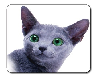 Russian Blue Cat -  Mouse Mat Mouse Pad