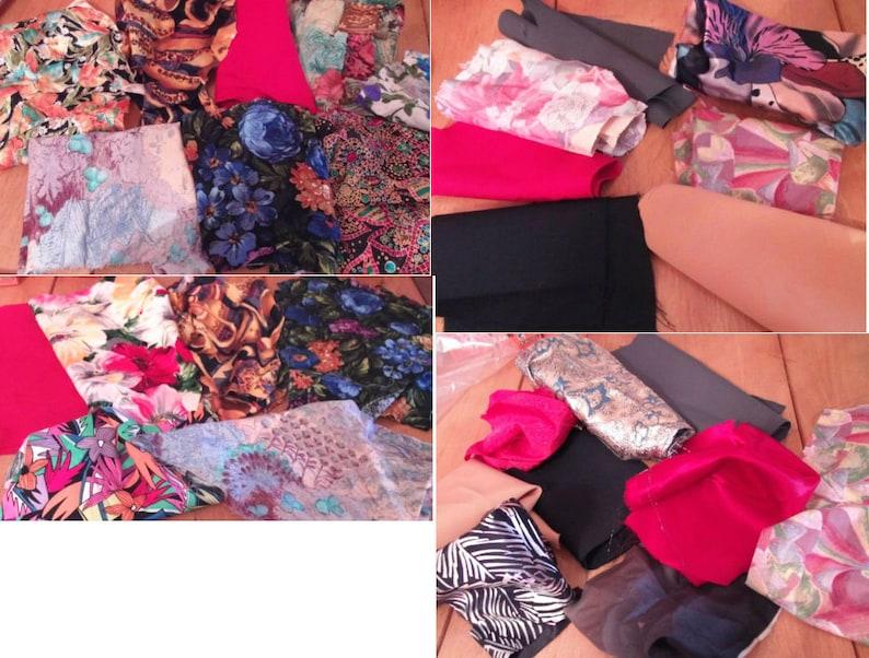 bundle x 20 pieces mixed bundle nothing smaller than 4x4 Fabric scraps