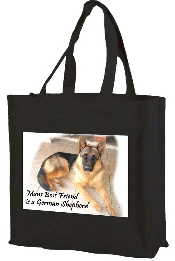 BLACK GERMAN SHEPHERD DOG TOTE //SHOPPER REUSABLE BAG GREAT GIFT FAST DESPATCH