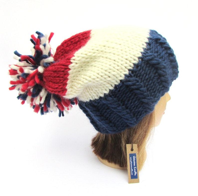 New York Rangers hat Ice hockey hat chunky knit hat NY  81d9b5daee3