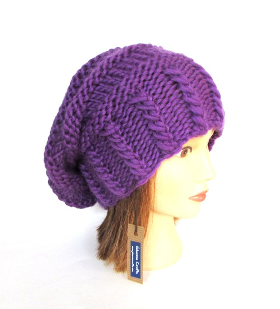 Bright purple slouchy beanie hat slouch hats beanies purple  18f28e6682c