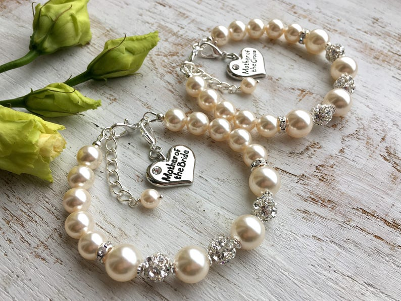 Mother of the groom gift from bride bracelet. Mother of the image 0