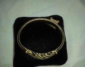 Vintage Napier bracelet with swarovski crystals