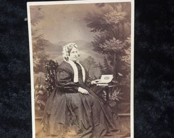 Vintage Photo of Middle Age Woman