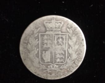 1876 Silver  Half Crown Coin of Queen Victoria