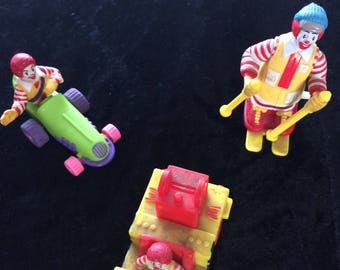 Vintage McDonald toys from 1980,s