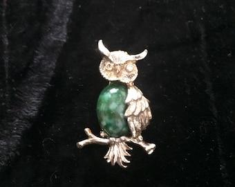 Vintage Owl Brooch /Pin