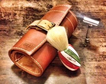 straight razor and shave brushes holder