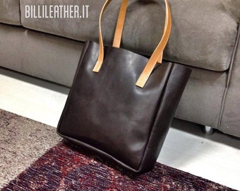 leather shopper / tote bag had crafted in Italy.