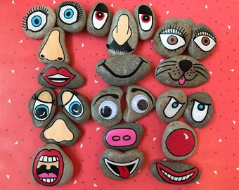 New set of funny face story stones