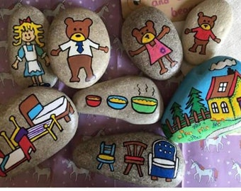 Goldilocks and the 3 bears story stones