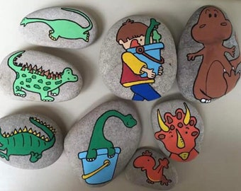 Harry and his bucketful of dinosaours story stones