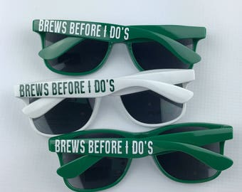 Funny Sunglasses - Brews Before - Wedding Sunglasses - Wedding Party Gift - Beer Favors - Bachelorette Party Favor - Bachelorette Sunglasses