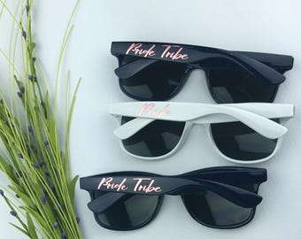 Bride Tribe - Beach Sunglasses - Bachelorette Party Sunglasses - Bridesmaid Sunglasses - Navy Sunglasses - Rose Gold Sunglasses - Metallic