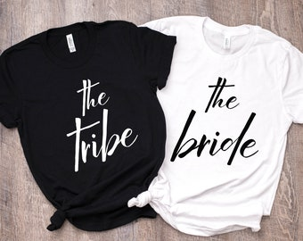 b993d3774a3 The Bride Unisex Shirt - Bridesmaid shirts - Bride Tee - Tribe Tee  -Bridesmaid Proposal - Plus Size Bridal T - Bachelorette Party Shirts