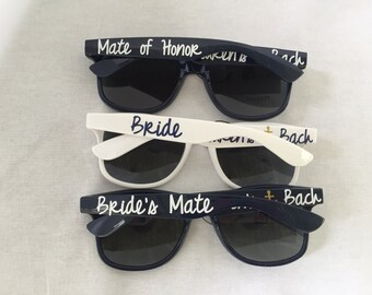 Custom Sunglasses - Bridesmates - Nautical - Personalized Sunglasses - Bridal Party Gifts - Wedding Party Gifts - Bridesmaid Gift - Bachelor
