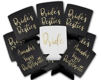 Can Sleeve - Custom Drink Sleeve - Custom Wedding Favor -  Bachelorette Party -Brides Besties - Vegas Bachelorette Party - Bridesmaid Gift