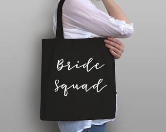 Bride Squad Tote Bag - Bachelorette Party Favor - Wedding Party Gift - Bride Canvas tote - Bridesmaid Proposal - Bachelorette Gifts under 20