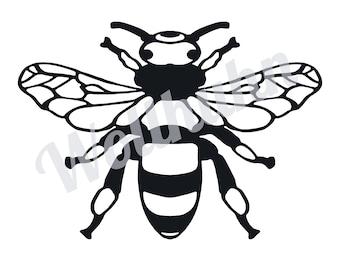 "Plotter File / Clipart / Design File / Cut File ""Save the Bees"" - SVG, DXF, JPG Plotterfile, Design e.g. Silhouette Cameo / Brother / Cricut"