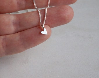FULL HEART L- necklace - sterling silver - by STICKTAILS