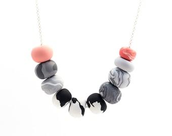 Handmade Polymer Clay Jewelry Necklace: Leo & Jemma