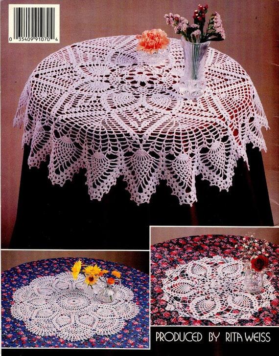Ganchillo tapetes y manteles patrón libro - 6 diseños - hilo de ...