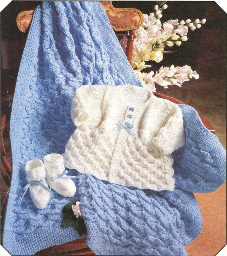 ca45202fa Instant Download SWEET BABY LAYETTE Knitting Pattern