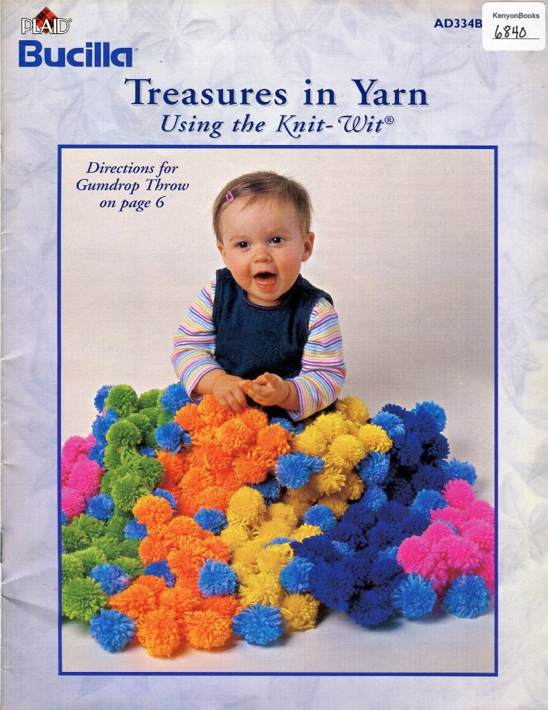 KNIT-WIT Patterns - Throw Blankets, Girl\'s Poncho & Hat, Baby Sets ...