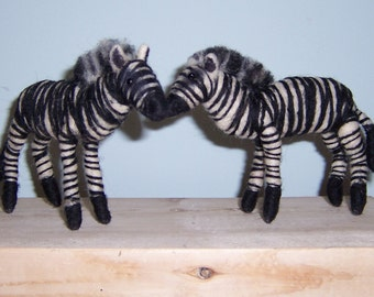 Needle Felted Zebras