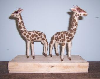 Needle Felted Giraffes