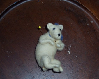 Needle Felted wool Bear