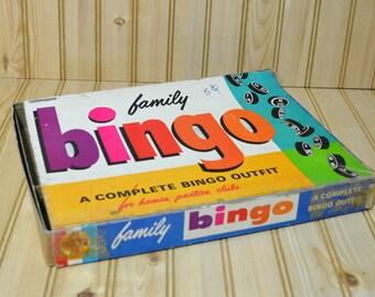 Vintage Family Bingo By Transogram  1964