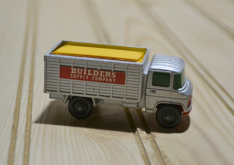 Vintage Matchbox Scaffolding Truck Builders Supply Company Sticker Complete 7 Scaffold Pieces Series #11 1960s Toy Car Vehicle Collectible
