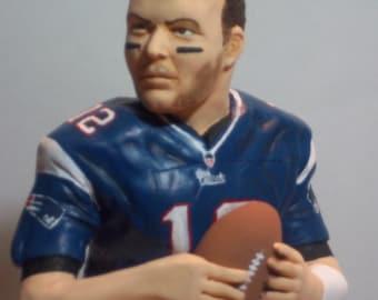 NFL Football Superbowl Quarterback Custom Sculpture Tom Brady
