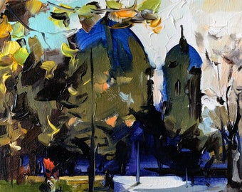 """Original by Yuri Frey """"in the park"""" oil on canvas. Picture No. 1980 of 10.11.2017 Jurijfrey.blogspot.com"""