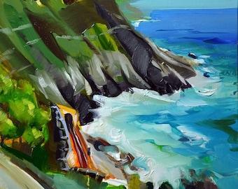 "Original by Yuri Frey ""tunnel to Vernazza"" oil on canvas. Picture No. 2186 of 21.09.2018 jurijfrey.blogspot.com"