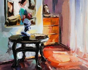 "Original by Yuri Frey ""in my studio"" oil on canvas. Picture No. 2170 of 08.09.2018 jurijfrey.blogspot.com"