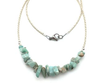 Amazonite Necklace with Thai Silver