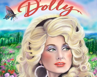 """DOLLY PARTON """"D is for DOLLY"""" 11x14"""" Queen of Country Music, Country and Western, 1960s Retro Dolly-  Archival Quality Print"""