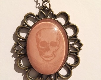 """Cameo """"SKULL OF CHANGE"""" Necklace, Nature, Spiritual, Tarot, Wiccan, Pagan"""