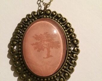 """Cameo """"TREE OF LIFE"""" Necklace, Nature, Spiritual, Tarot, Wiccan, Pagan"""