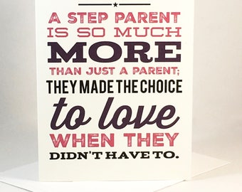 Step Parent, Mother's Day, Step Mom, Step Mother, Birthday, Just Because Card - Digital Download or Print