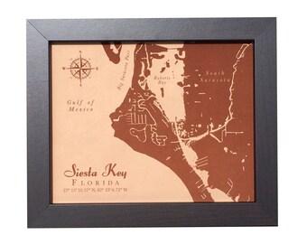Siesta Key Florida Map.Siesta Key Map Etsy
